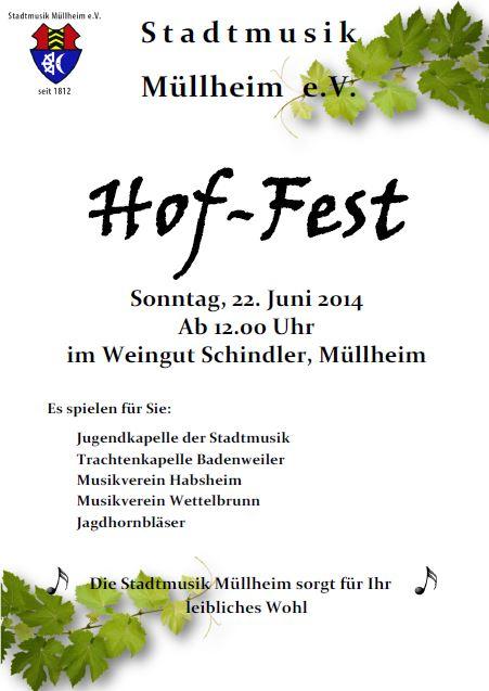 Hof-Fest der Stadtmusik Müllheim im Weingut Schindler