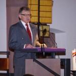 Ansprache des ersten Vorsitzenden der Stadtmusik Müllheim, Manfred Klenk