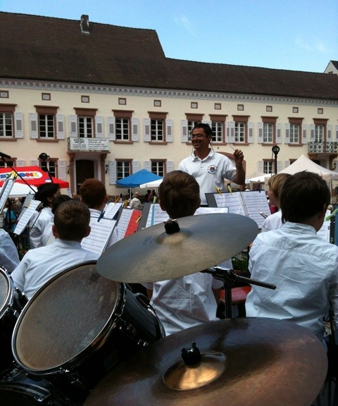Vororchester der Stadtmusik Müllheim am internationalen Fest 2014