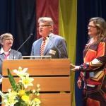 Dankesworte des ersten Vorsitzenden der Stadtmusik, Manfred Klenk