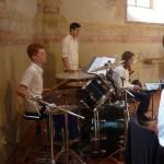 Jannik Martin, unser talentierter Schlagzeuger, heizte ordentlich ein