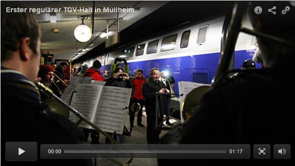 Erster TGV Halt in Müllheim am 13. Dezember 2016