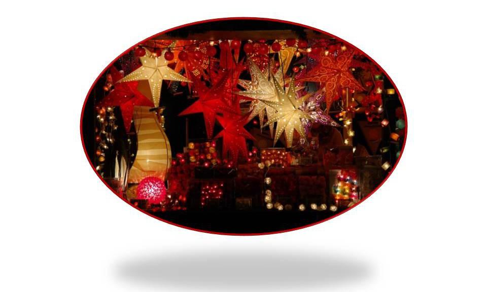 Weihnachtsmartstand Sterne