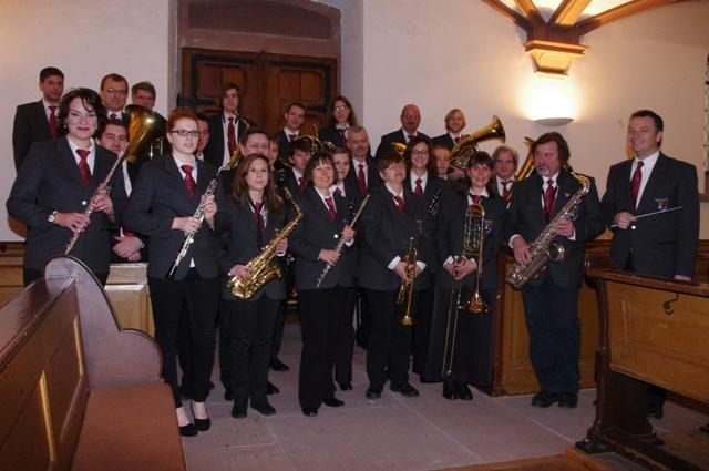 Musiker der Stadtmusik Müllheim 2013